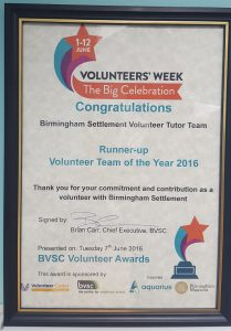 Volunteer Award June 2016
