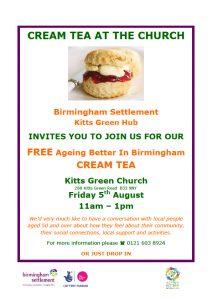 Cream Tea at The Church Flyer August 2016