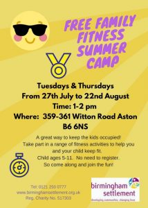 Family Fitness Summer Camp 2017