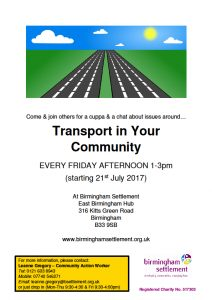 Transport in your community 210717