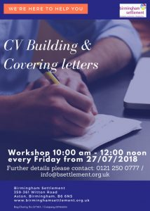 CV Building workshop flyer