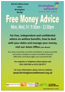 Money Advice Poster July 2018 A4 BS colours