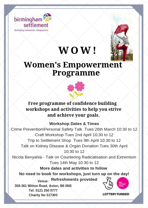 Empowering Women new flyer