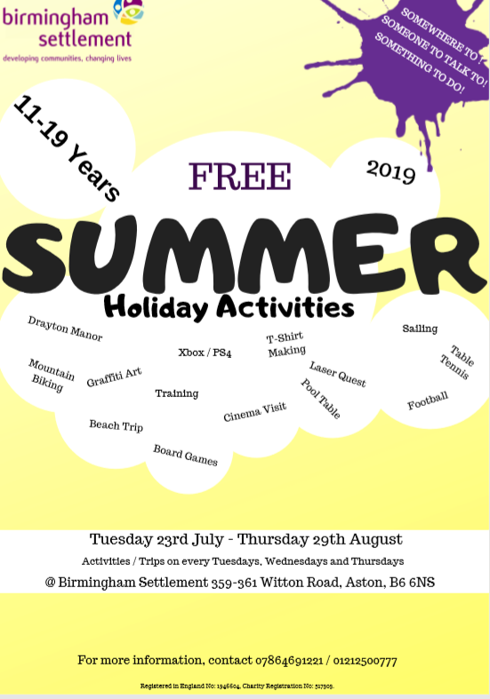 Summer activities Aston